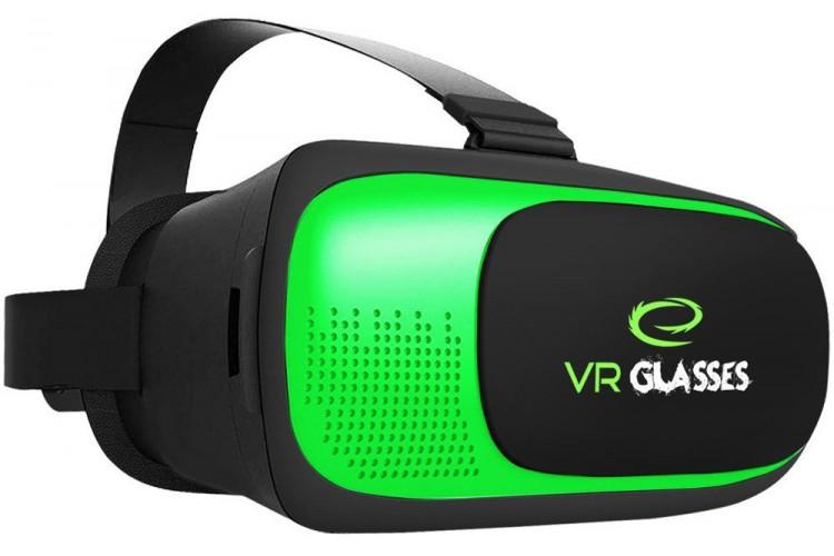 Очки виртуальной реальности Esperanza EGV300 (черно-зеленый)