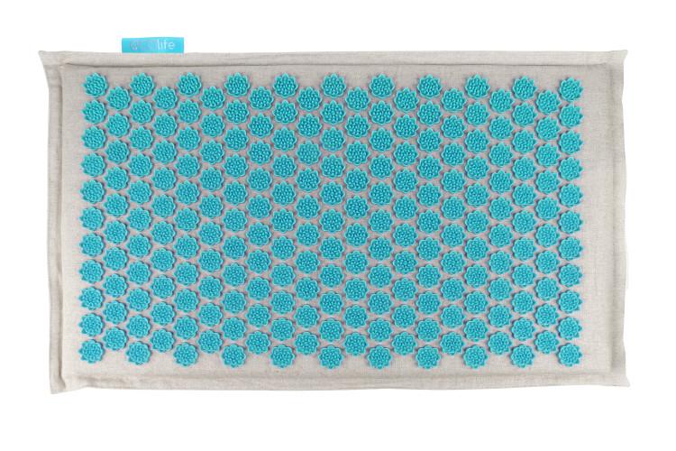Массажный коврик акупунктурный 72х42см бирюзовый EcoLife Gezatone