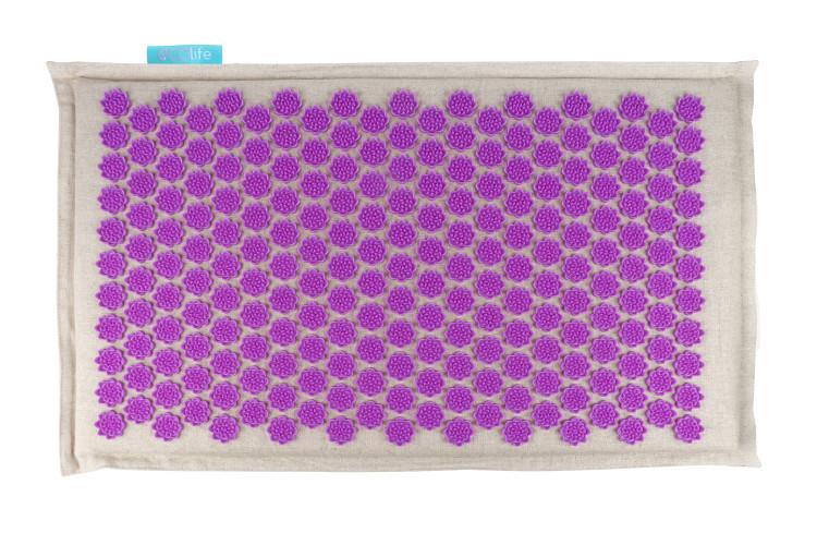 Массажный коврик акупунктурный 72х42см фиолетовый EcoLife Gezatone