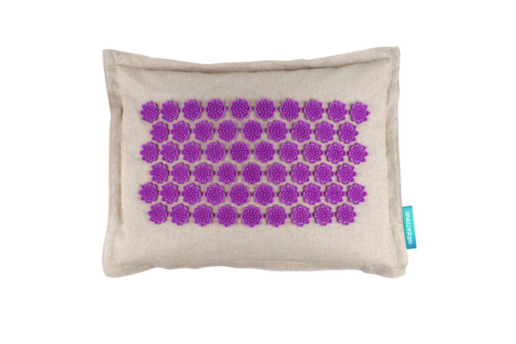 Массажная подушка акупунктурная полукруглая 40х15см бирюзовая EcoLife Gezatone