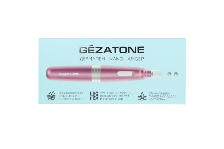 AMG517 Прибор для ухода и массажа лица Nanopen (розовый) Gezatone
