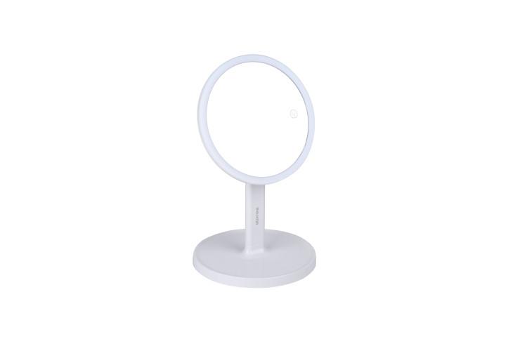 LM208 Зеркало косметологич. 1x/7x со светодиодной подсветкой (белое) Gezatone