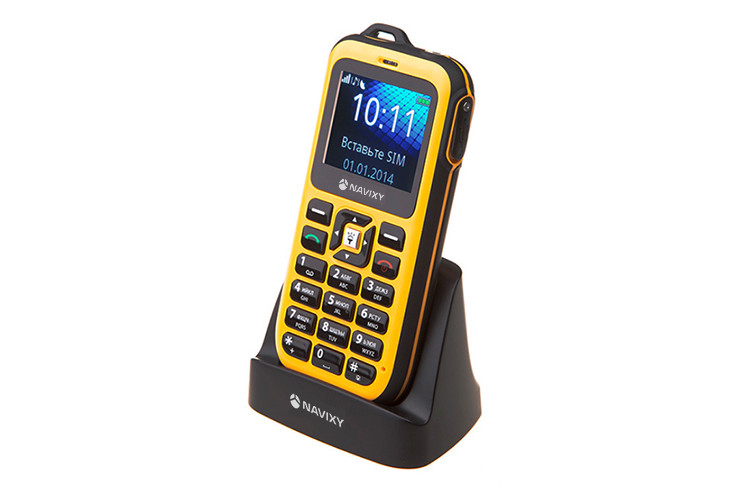 Защищенный телефон с функцией GPS-маяка Navixy V8